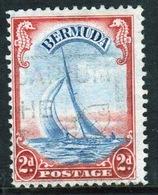 Bermuda George VI 2d Single Stamp From The 1938 Definitive Set. - Bermuda