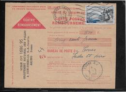 France - Carte Contre Remboursement - Poststempel (Briefe)
