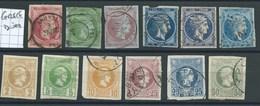 GRECE - PETIT LOT. Etat Moyen. - 1861-86 Large Hermes Heads