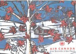 PUB PUBLICITE- AIR CANADA Une Bouffée D'Air Frais  (d'aprés Illustration Oeuvre De Claude Bouchard )*PRIX FIXE - Advertising