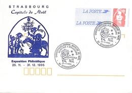 Christkindelsmärik-Marché De Noël Bienvenue à Strasbourg Capitale De Noël 25.11.1995 - Postal Stamped Stationery