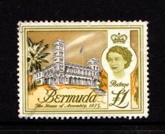 BERMUDA    1962    £1  Black  Olive  And  Orange    USED - Bermuda