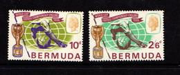 BERMUDA    1966    World  Cup  Football    Set  Of  2    MH - Bermuda