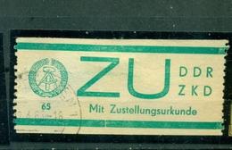 DDR, Mit ZUstellungsurkunde, Nr. D1 Gestempelt - Servizio