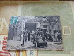"""124 - Rare CPA, Société Des Automobiles """"MORS"""", Place Castellane, MARSEILLE, Devanture De Garage - Canebière, Centro"""