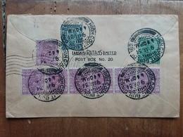 EX COLONIE INGLESI - INDIA - Lettera Spedita In Italia + Spese Postali - 1911-35 King George V