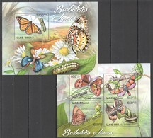 BC525 2012 GUINE GUINEA-BISSAU INSECTS BUTTERFLIES BORBOLETAS KB+BL MNH - Farfalle