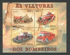 BC532 2012 GUINEA-BISSAU TRANSPORT FIRE TRUCKS FIREFIGHTERS BOMBEIROS KB MNH - Vrachtwagens