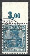 DR Mi. 144 P Vom Oberrand Gestempelt, Mi. 45,-€ (926) - Used Stamps