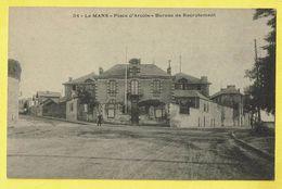* Le Mans (Dép 72 - Sarthe - France) * (nr 34) Place D'Arcole, Bureau De Recrutement, Old, CPA, Unique, Rare - Le Mans