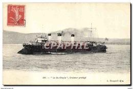 CPA Bateau De Guerre Le Du Chayla Croiseur Protege - Warships