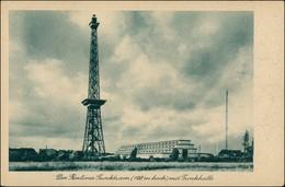 Ansichtskarte Charlottenburg-Berlin Funkturm Und Funkhalle 1940 - Charlottenburg