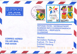Japan Air Mail Cover Sent To Germany 13-2-2001 Topic Stamps - Lettres & Documents