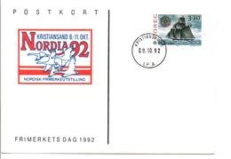 DANEMARK ENTIER NORDIA 92 A KRISTIANSAND - Affrancature Meccaniche Rosse (EMA)