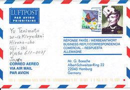 Japan Air Mail Cover Sent To Germany 5-4-2000 Topic Stamps - Lettres & Documents