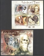 BC634 2011 GUINE GUINEA-BISSAU ART PAINTINGS RABINDRANATH TAGORE 1KB+1BL MNH - Ecrivains