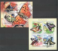 BC637 2011 GUINEA-BISSAU FLORA & FAUNA BUTTERFLIES BL+KB MNH - Butterflies