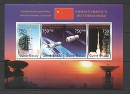 BC649 2011 GUINE GUINEA-BISSAU CHINESE SPACE PROGRAM SEHNZHOU SATELLITES ROCKETS KB MNH - Altri