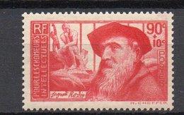 - FRANCE N° 344 Neuf ** MNH - 90 C. + 10 C. Rose Carminé Auguste Rodin 1937 - Cote 16 EUR - - France