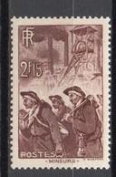 - FRANCE N° 390 Neuf ** MNH - 2 F. 15 Brun-lilas Mineurs 1938 - Cote 13 EUR - - France