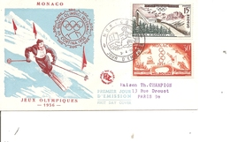 JO D'été De Melbourne Et JO D'hiver De Cortina - 1956 ( FDC De Monaco à Voir) - Ete 1956: Melbourne