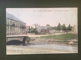 POURU-SAINT-REMY - Le Pont Et Le Calvaire - Otros Municipios