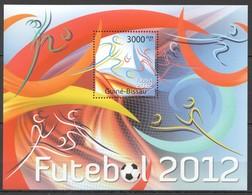 BC690 2011 GUINE GUINEA-BISSAU SPORT FOOTBALL UEFA FIFA EURO 2012 BL MNH - Voetbal