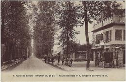 91 Brunoy Foret De Senart Route Nationale N° 5, Direction De Paris - Brunoy