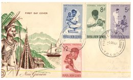 (64) Papua New Guinea FDC Cover - 1964 - Health - Papouasie-Nouvelle-Guinée