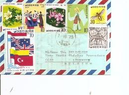 Corée Du Sud ( Lettre De 1975 De Andong Vers La Belgique à Voir) - Korea (Süd-)