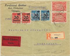 DR Brief Infla Reco Eil Tübingen 18.9.23 Mif. MI.280,284,257 - Deutschland