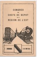 STRASBOURG(67) MENU. TRAIN. S.N.C.F. CONGRES Des CHEFS De DEPOT De La REGION De L'EST. 1954. GRAVURE PONT DE KELL Au DOS - Menus