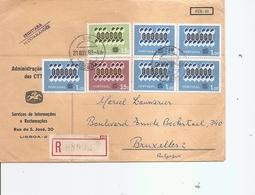 Portugal ( Lettre Recommandée De 1962 De Lisbonne Vers La Belgique à Voir) - 1910-... Republic