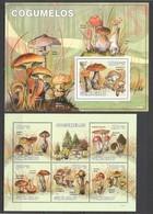 BC710 2010 GUINE GUINEA-BISSAU MUSHROOMS COGUMELOS 1KB+1BL MNH - Mushrooms