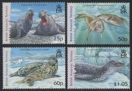 BAT / Brit. Antarktis 2006 - Mi-Nr. 446-449 ** - MNH - Robben / Seals - Ungebraucht