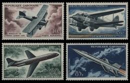 Gabun 1962 - Mi-Nr. 175-178 ** - MNH - Flugzeuge / Airplane - Gabon (1960-...)