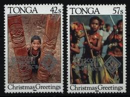 Tonga 1986 - Mi-Nr. 975-976 ** - MNH - Pfadfinder / Scouts - Tonga (1970-...)