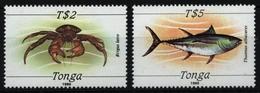 Tonga 1989 - Mi-Nr. 1061-1062 ** - MNH - Meerestiere / Marine Life - Tonga (1970-...)