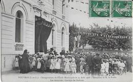 VOUVRAY (I.et  L.) Inauguration De L'Ecole Municipale Le 23 Août  1908 - Réception Des Autorités Et Cortège Des Enfants - Vouvray