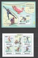 BC732 2010 GUINE GUINEA-BISSAU WINTER OLYMPIC GAMES VANCOUVER 1KB+1BL MNH - Wintersport (Sonstige)