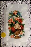 N°295 -  ) CPA FANTAISIE -DECOUPIS-DENTELLE-ROSES-CHROMO - Fancy Cards