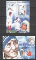 BC771 2010 GUINE GUINEA-BISSAU FAMOUS PEOPLE MOTHER TERESA 2BL MNH - Mutter Teresa