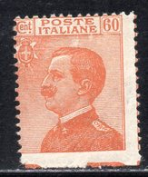 Rox 1926 Regno D'Italia Michetti 60c  MH* Nuovo Con Gomma E Linguella Decalco E Non Dentellato In Basso - 1900-44 Victor Emmanuel III