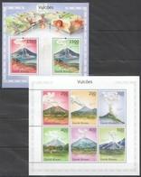 BC792 2010 GUINE GUINEA-BISSAU NATURE VOLCANOES VULCOES 1KB+1BL MNH - Volcans