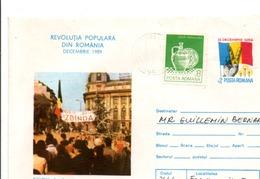 ROUMANIE ENTIER LETTRE 1989 - Cartas