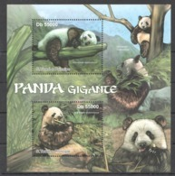 BC905 2011 S.TOME E PRINCIPE FAUNA ANIMALS PANDA GIGANTE 1BL MNH - Ours