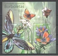 BC916 2011 S.TOME E PRINCIPE FLORA & FAUNA BORBOLETAS BUTTERFLIES 1BL MNH - Schmetterlinge