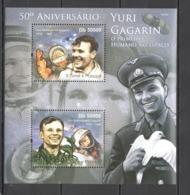 BC927 2011 S. TOME E PRINCIPE SPACE ANNIVERSARY YURI GAGARIN 1BL MNH - Altri