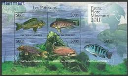 Comoros 2011 Mi Ark3001-3005 MNH ( ZS4 COMark3001-3005 ) - Fishes