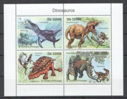 BC943 2011 S.TOME E PRINCIPE FAUNA REPTILES DINOSAUROS 1KB MNH - Postzegels